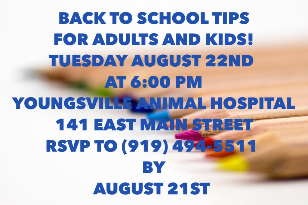 August Essential Oils Class - Back to School! @ Youngsville Animal Hospital   Youngsville   North Carolina   United States